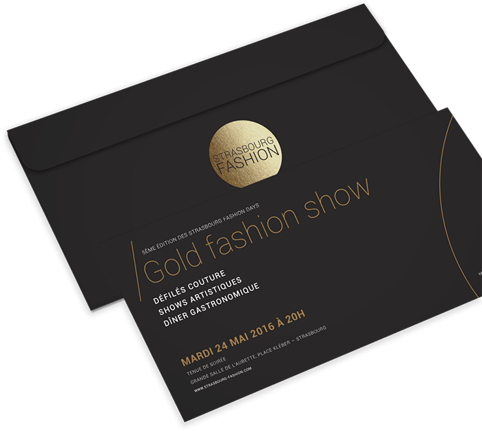 Invitations Gold Fashion Show